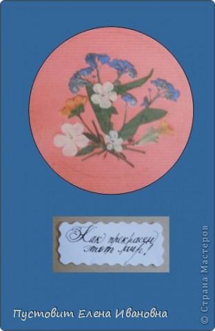 """Серия моих открыток""""Как прекрасен этот мир!"""" в технике ошибана. фото 3"""