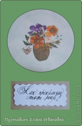 """Серия моих открыток""""Как прекрасен этот мир!"""" в технике ошибана. фото 6"""