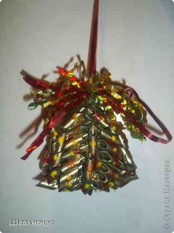 Новогодние игрушки макаронныеМК фото 15
