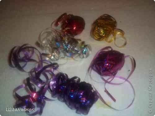 Новогодние игрушки макаронныеМК фото 12