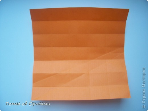 Деление квадрата на равные части - это всегда лишь подготовительный этап к складыванию. Однако без определенных навыков, как раз он и может оказаться достаточно сложным, особенно если количество частей, является простым числом:3, 5, 7, а так же 9. Об этом поподробнее. фото 37