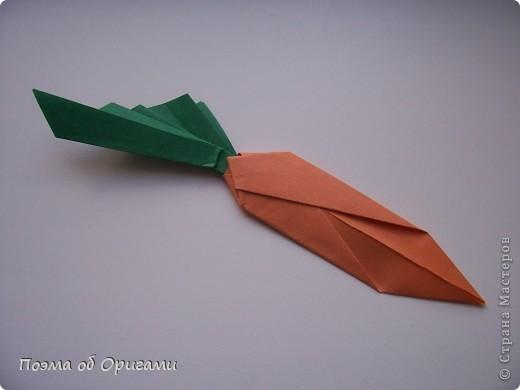 Мастер-класс Оригами Лукошко кролик и морковка Бумага фото 45
