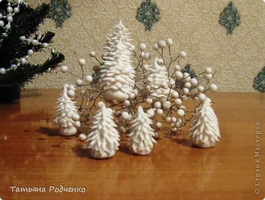 Маленьким ёлочкам холодно зимой.. Холодный фарфор. фото 5