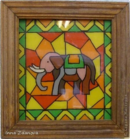 """Эта же мозаика, выполненная в технике """"Витраж пластилином""""."""