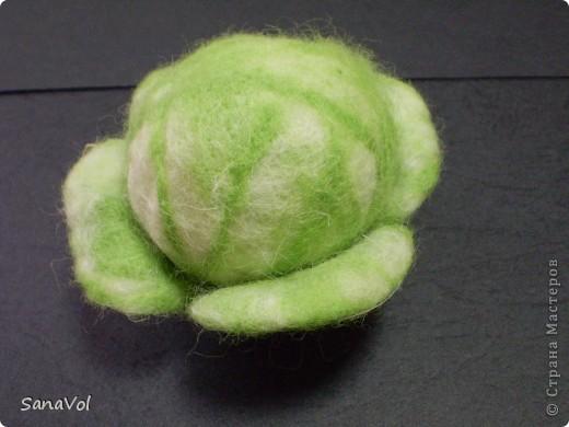 Сделана из овечьей шерсти методом сухого и мокрого валяния. Листочки - на каркасе. фото 1