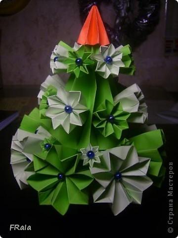 Ёлка-оригами фото 2