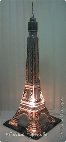 "Светильник из бутылки ""Эйфелева башня"" фото 1"