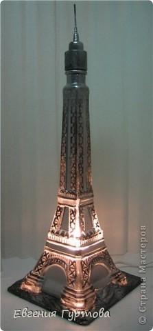 "Светильник из бутылки ""Эйфелева башня"" фото 5"