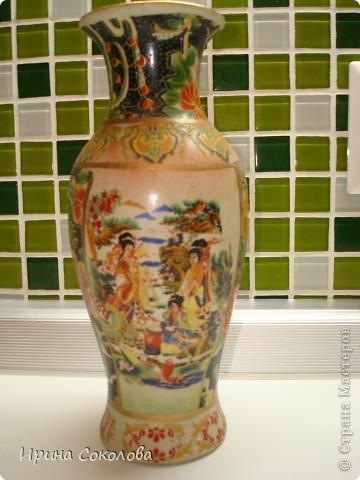 Вот так преобразилась старая  вазочка, которую я уже списала в кладовку и браслет, который уже поднадоел. фото 3