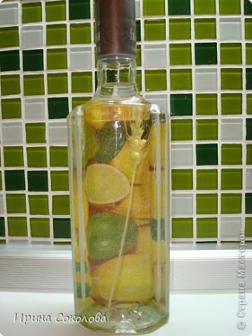 И снова подарок для мужчины. Муж моей сестры, увидев, как я сделала прошлые бутылки https://stranamasterov.ru/node/123095 , попросил сделать что-то в этом роде и ему. фото 3