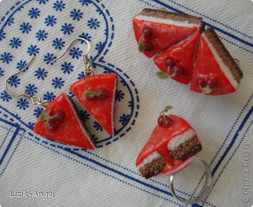 Сережки-тортики фото 5