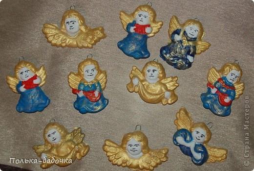 Такие ангелочки вышли! Были использованы готовые формы... Покрашены акрилами... фото 1