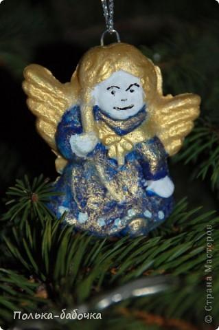 Такие ангелочки вышли! Были использованы готовые формы... Покрашены акрилами... фото 4