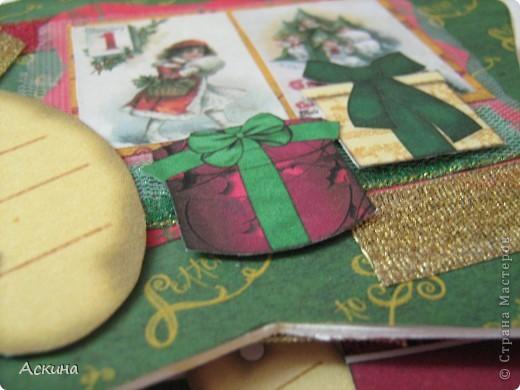 Альбомчик делала по этому МК http://scrap-info.ru/myarticles/article_storyid_288.html, правда у меня не было готовых фигур звезды,елки и шара,пришлось самой нарисовать и вырезать из твердого картона. фото 10