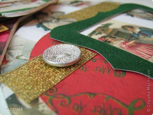 Альбомчик делала по этому МК http://scrap-info.ru/myarticles/article_storyid_288.html, правда у меня не было готовых фигур звезды,елки и шара,пришлось самой нарисовать и вырезать из твердого картона. фото 13