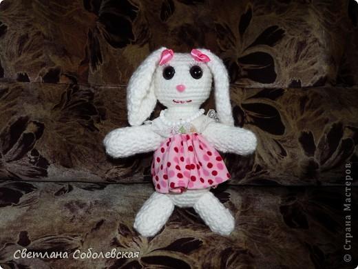 Зайчик в розовом фото 1