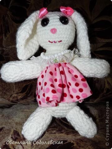 Зайчик в розовом фото 2
