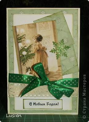Здравствуйте! У меня опять открытки новогодние. Думаю, что последние в этом году. Поздравляю всех жителей страны с Новым годом! фото 3