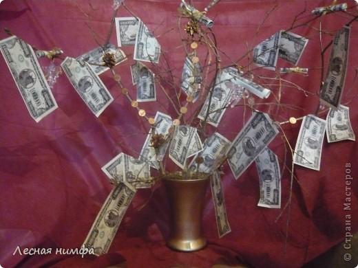 Вот токое денежное дерево я решила сделать для своего любимого человека... фото 1