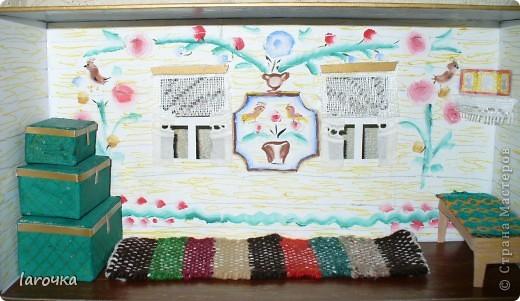 Это школьный проект моего сына, ученика 3 класса. Макет сделан в коробке из-под обуви.  фото 3