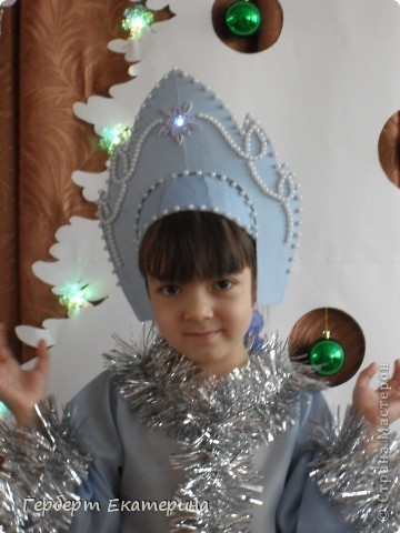 Такой вот новогодний костюм Снегурочки у нас с дочей получился. фото 3
