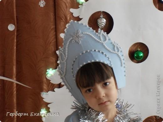 Такой вот новогодний костюм Снегурочки у нас с дочей получился. фото 2