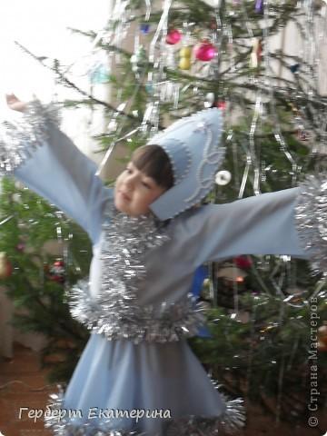 Такой вот новогодний костюм Снегурочки у нас с дочей получился. фото 1