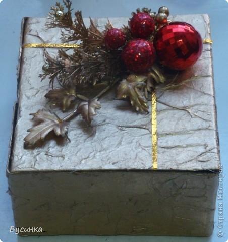 Новогодняя шкатулочка под подарок фото 3