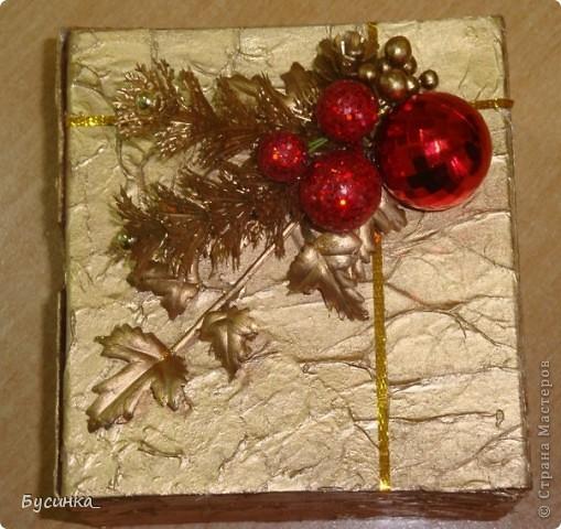 Новогодняя шкатулочка под подарок фото 1