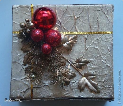 Новогодняя шкатулочка под подарок фото 2