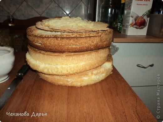 Здравствуйте это мой первый МК! Я расскажу как я делаю вкуссный тортик из бисквита, который так любит вся моя семья! И готовить его не трудно! фото 2