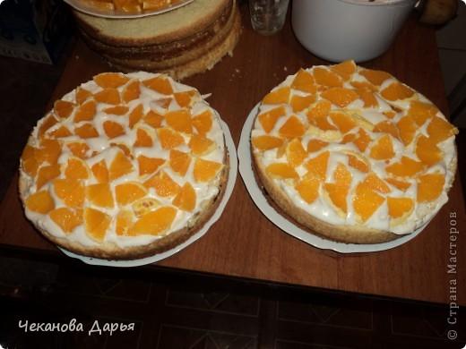 Здравствуйте это мой первый МК! Я расскажу как я делаю вкуссный тортик из бисквита, который так любит вся моя семья! И готовить его не трудно! фото 11
