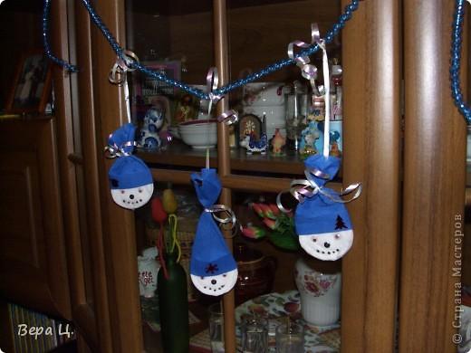 "Гирлянда ""Весёлый снеговик"" фото 1"