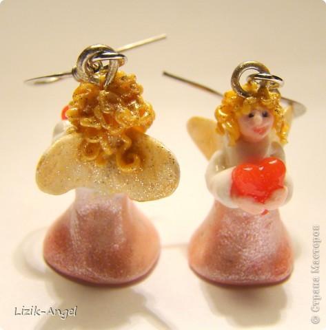 Сережки-ангелочки фото 2