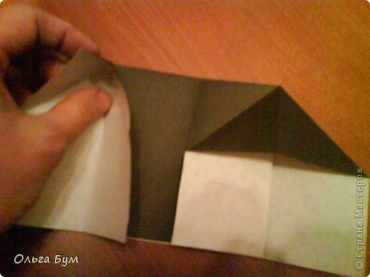 Киски-оригами. Они могут открывать рты, если нажать с двух сторон. Делаем из квадрата, полученного из листа формата А4 (стандартный лист) фото 8