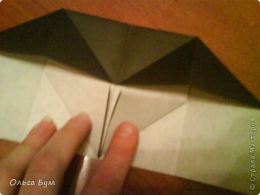 Киски-оригами. Они могут открывать рты, если нажать с двух сторон. Делаем из квадрата, полученного из листа формата А4 (стандартный лист) фото 10