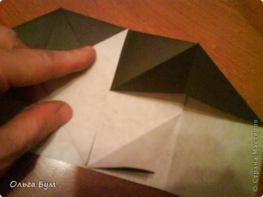 Киски-оригами. Они могут открывать рты, если нажать с двух сторон. Делаем из квадрата, полученного из листа формата А4 (стандартный лист) фото 12