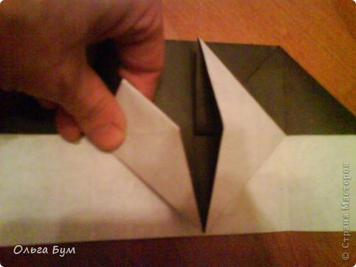 Киски-оригами. Они могут открывать рты, если нажать с двух сторон. Делаем из квадрата, полученного из листа формата А4 (стандартный лист) фото 14