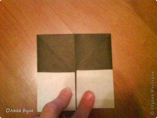 Киски-оригами. Они могут открывать рты, если нажать с двух сторон. Делаем из квадрата, полученного из листа формата А4 (стандартный лист) фото 17