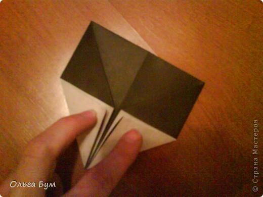 Киски-оригами. Они могут открывать рты, если нажать с двух сторон. Делаем из квадрата, полученного из листа формата А4 (стандартный лист) фото 18