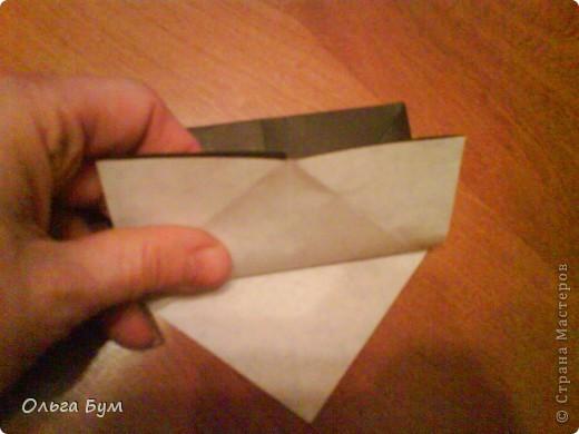 Киски-оригами. Они могут открывать рты, если нажать с двух сторон. Делаем из квадрата, полученного из листа формата А4 (стандартный лист) фото 19