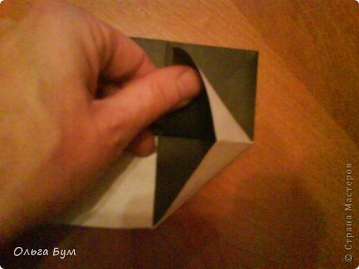 Киски-оригами. Они могут открывать рты, если нажать с двух сторон. Делаем из квадрата, полученного из листа формата А4 (стандартный лист) фото 20