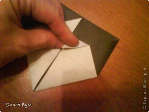Киски-оригами. Они могут открывать рты, если нажать с двух сторон. Делаем из квадрата, полученного из листа формата А4 (стандартный лист) фото 21