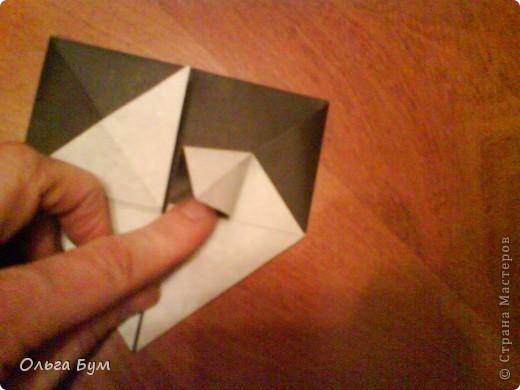 Киски-оригами. Они могут открывать рты, если нажать с двух сторон. Делаем из квадрата, полученного из листа формата А4 (стандартный лист) фото 22