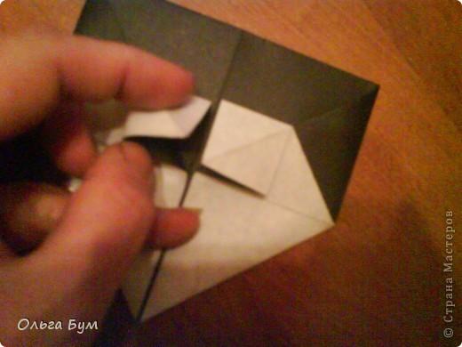 Киски-оригами. Они могут открывать рты, если нажать с двух сторон. Делаем из квадрата, полученного из листа формата А4 (стандартный лист) фото 23