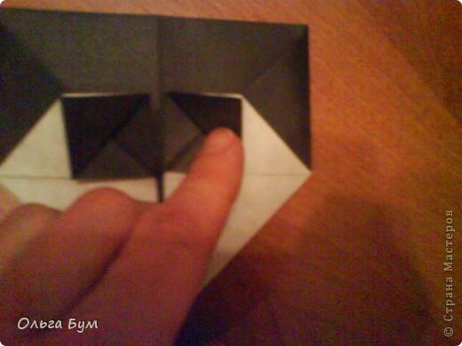 Киски-оригами. Они могут открывать рты, если нажать с двух сторон. Делаем из квадрата, полученного из листа формата А4 (стандартный лист) фото 24