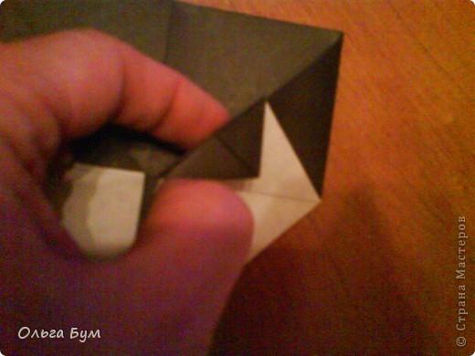 Киски-оригами. Они могут открывать рты, если нажать с двух сторон. Делаем из квадрата, полученного из листа формата А4 (стандартный лист) фото 25