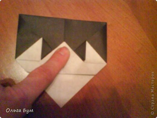 Киски-оригами. Они могут открывать рты, если нажать с двух сторон. Делаем из квадрата, полученного из листа формата А4 (стандартный лист) фото 27