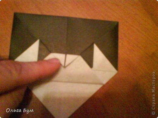 Киски-оригами. Они могут открывать рты, если нажать с двух сторон. Делаем из квадрата, полученного из листа формата А4 (стандартный лист) фото 28