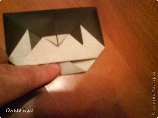 Киски-оригами. Они могут открывать рты, если нажать с двух сторон. Делаем из квадрата, полученного из листа формата А4 (стандартный лист) фото 29